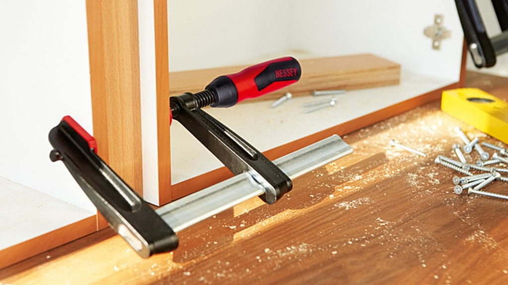 Clamps are a must-have woodworking tool.