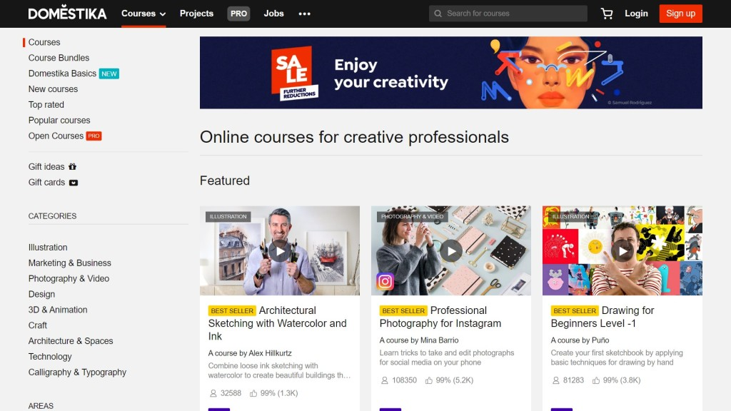 Domestika courses overview