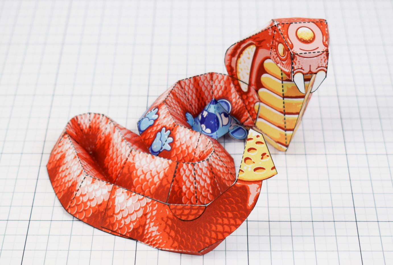 Fold Up Toys Cobra Paper Toy