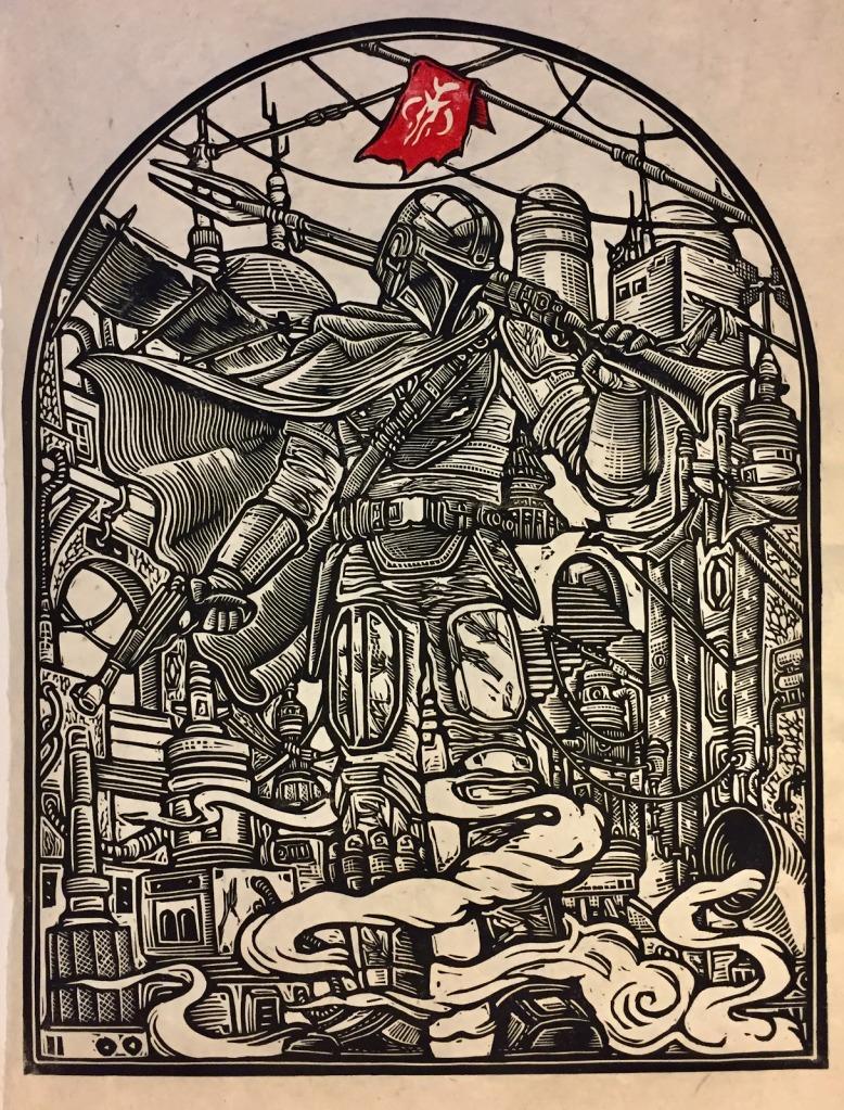 Brian Reedy mandalorian block print