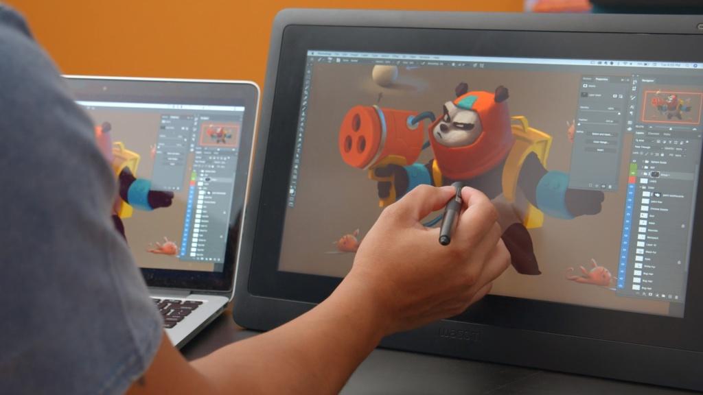 Digital character illustration domestika english course
