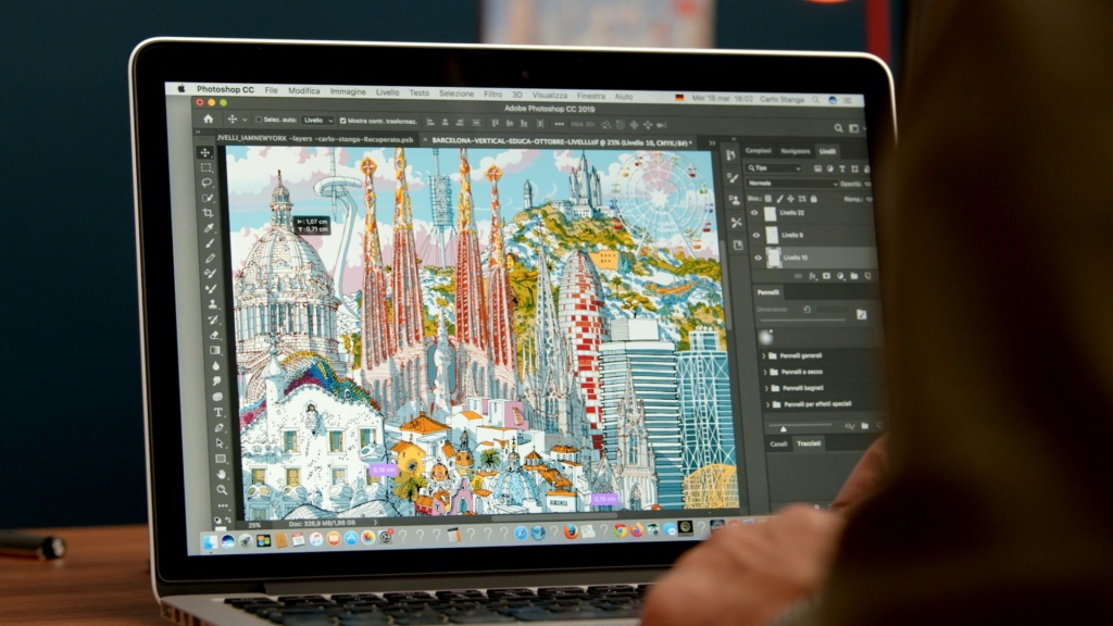 Domestika architectural illustration capturing city
