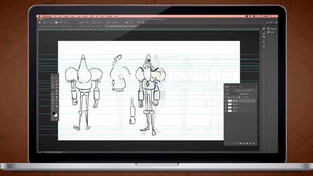 Domestika character creation for animation