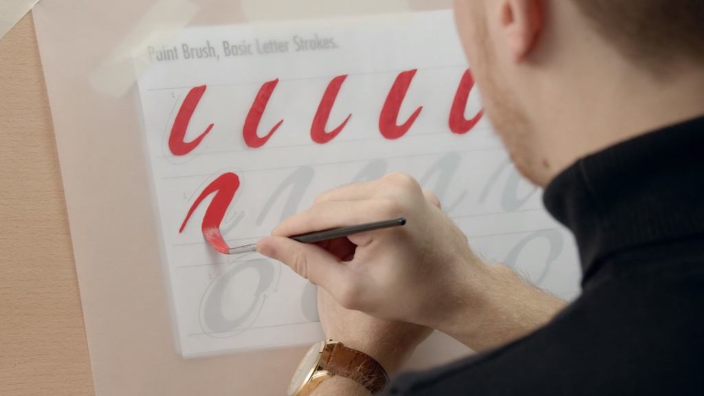Introduction to brush lettering domestika course in English