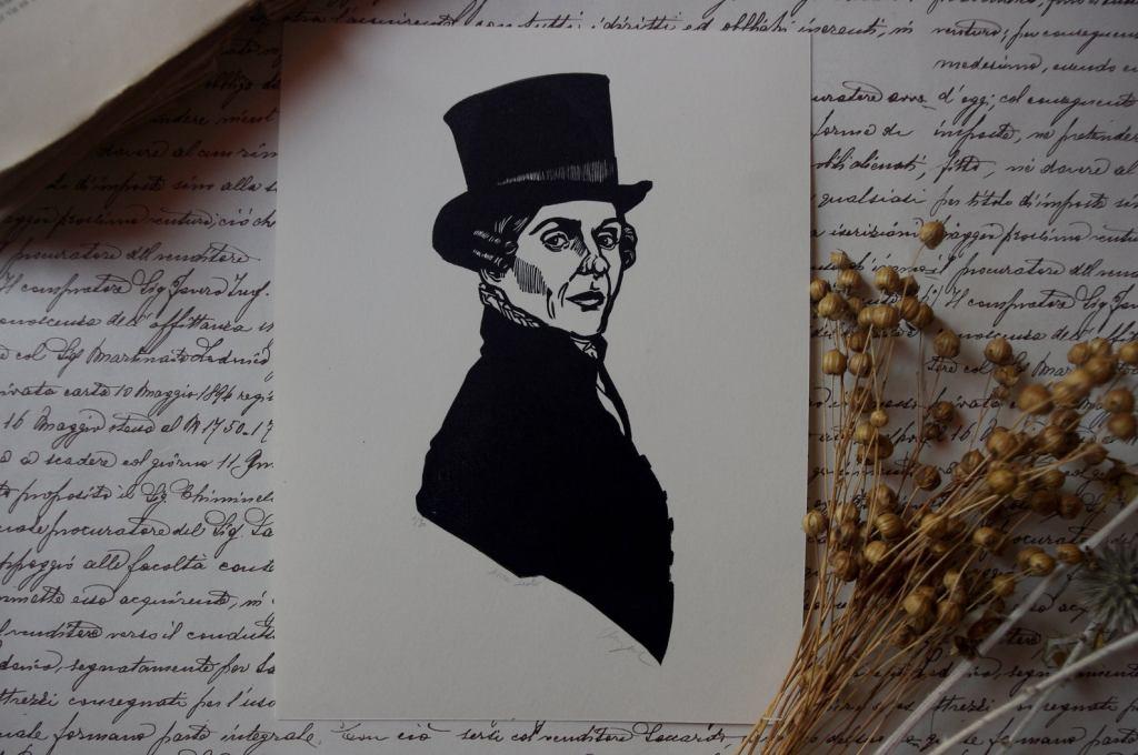 Lucie Spartacus Anne Lister linocut print
