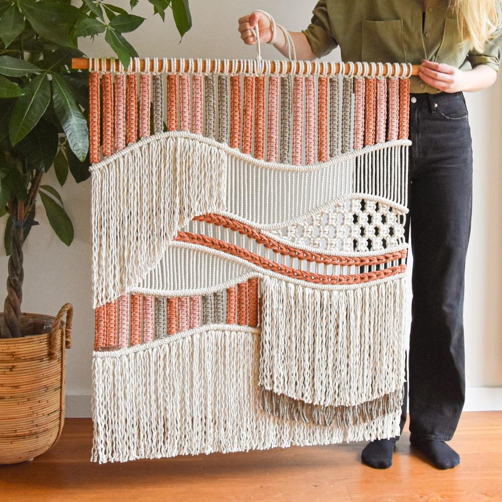 TamarThings Canyon macrame tapestry
