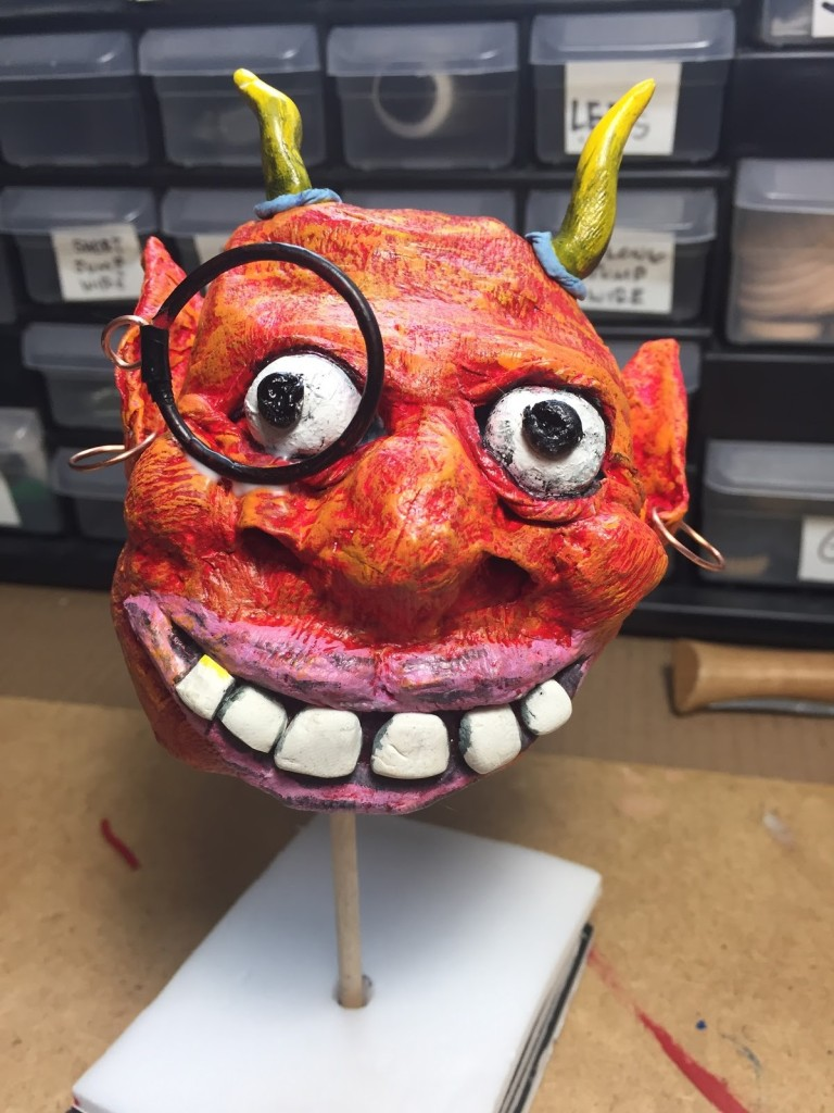 Jon Pogorelskin devil paper mache