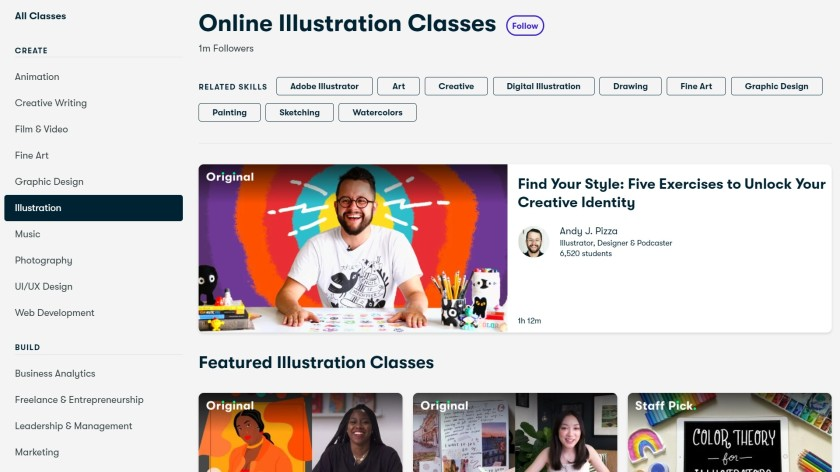 Skillshare illustration classes