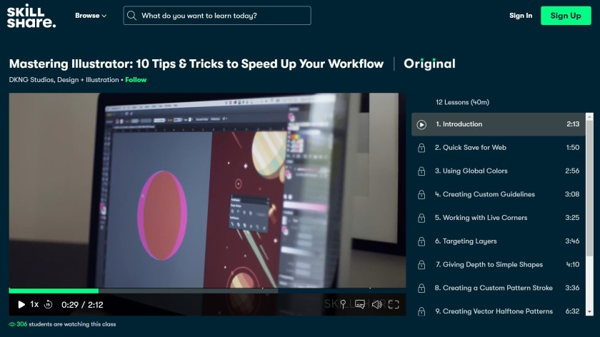 How does Skillshare work - Mastering Illustrator interface