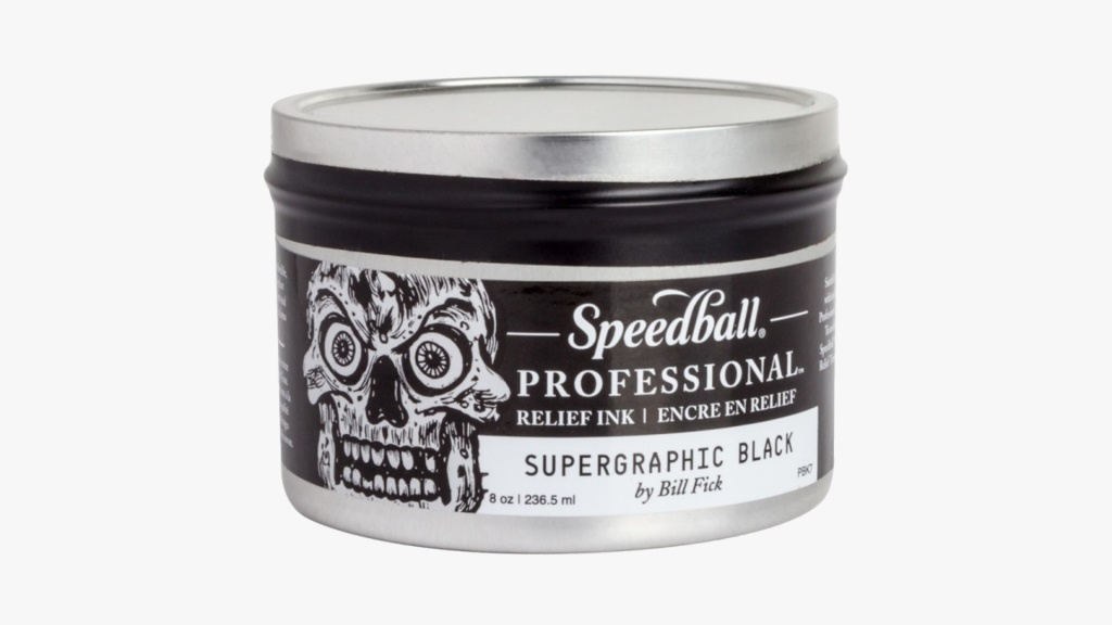 Speedball professional relief ink black
