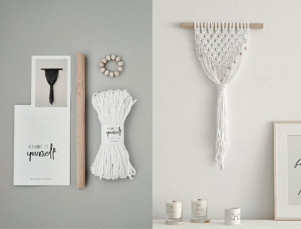 Knot it yourself macrame wall hanging kit