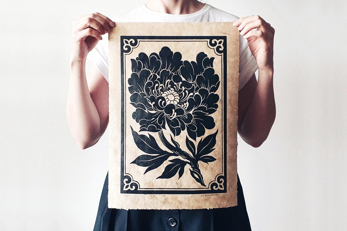 Maarit Hanninen Peony print featured