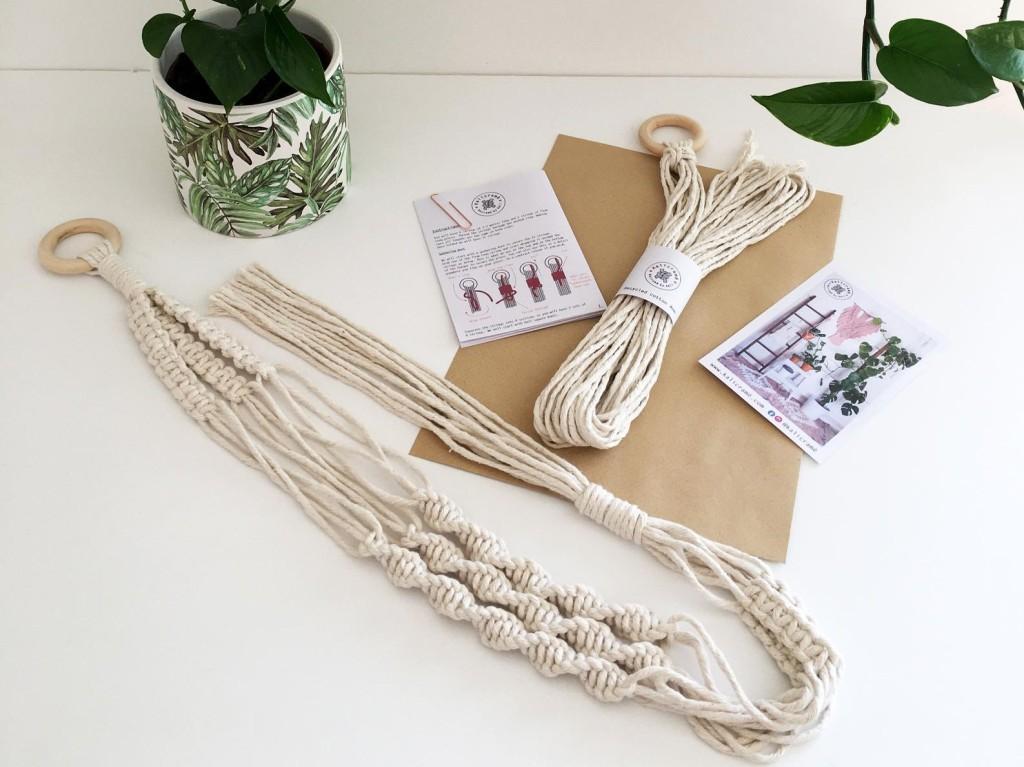 Beginner Macrame plant hanger kit by Kalicrame