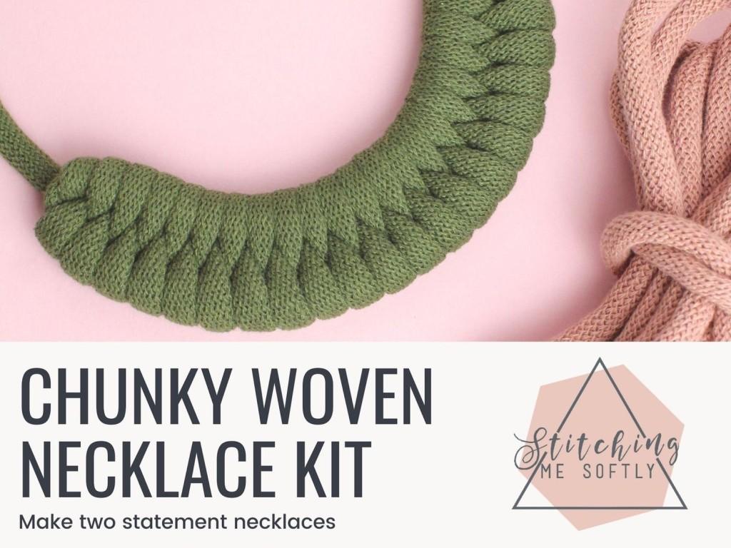 Chunky woven necklace kit by Stitchingmesoftly