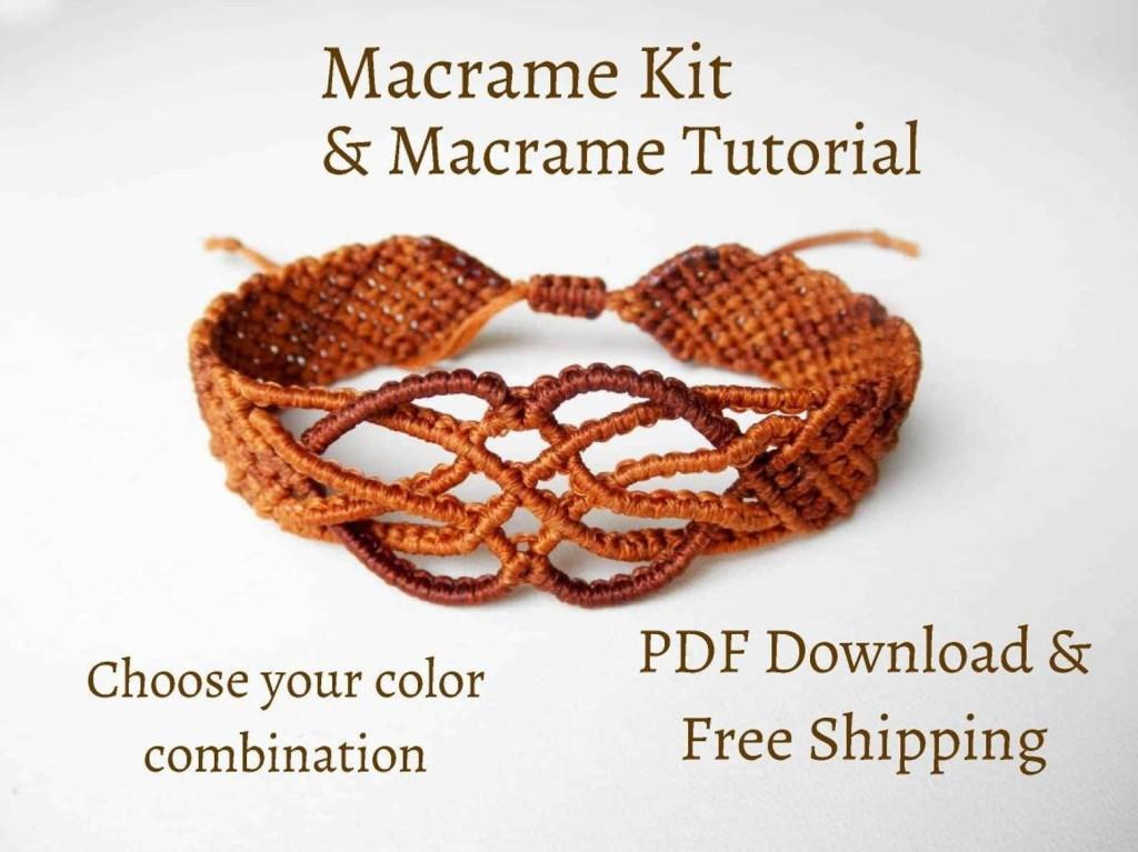 Macrame bracelet kit by NostalgieArt