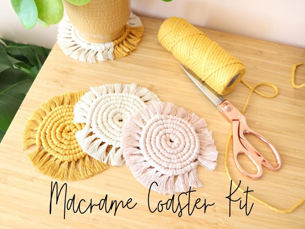 Macrame coaster kit by larkandfeather