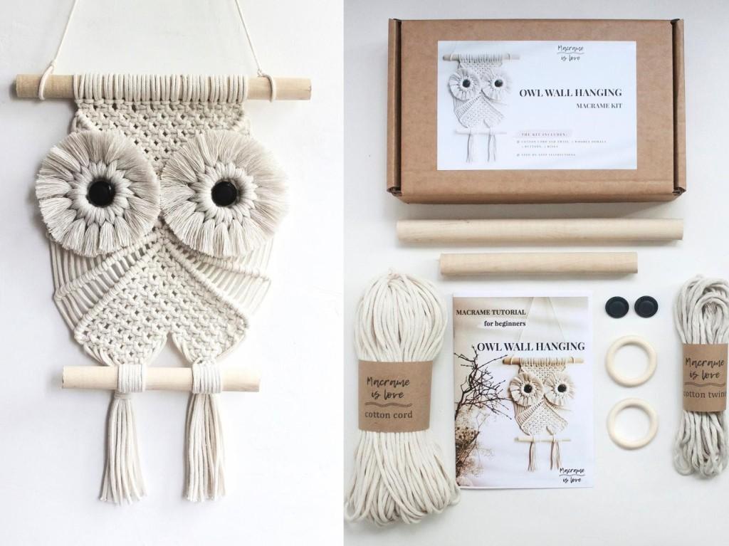 Macrame owl kit by MacrameIsLove