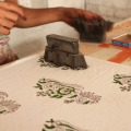 Block printing on fabric India